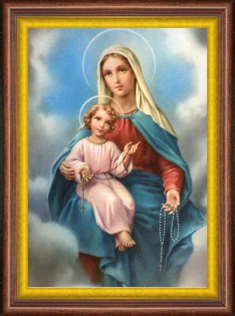 7 octobre Fête de Notre-Dame de Pompéi, Reine du Rosaire! Vierge_53